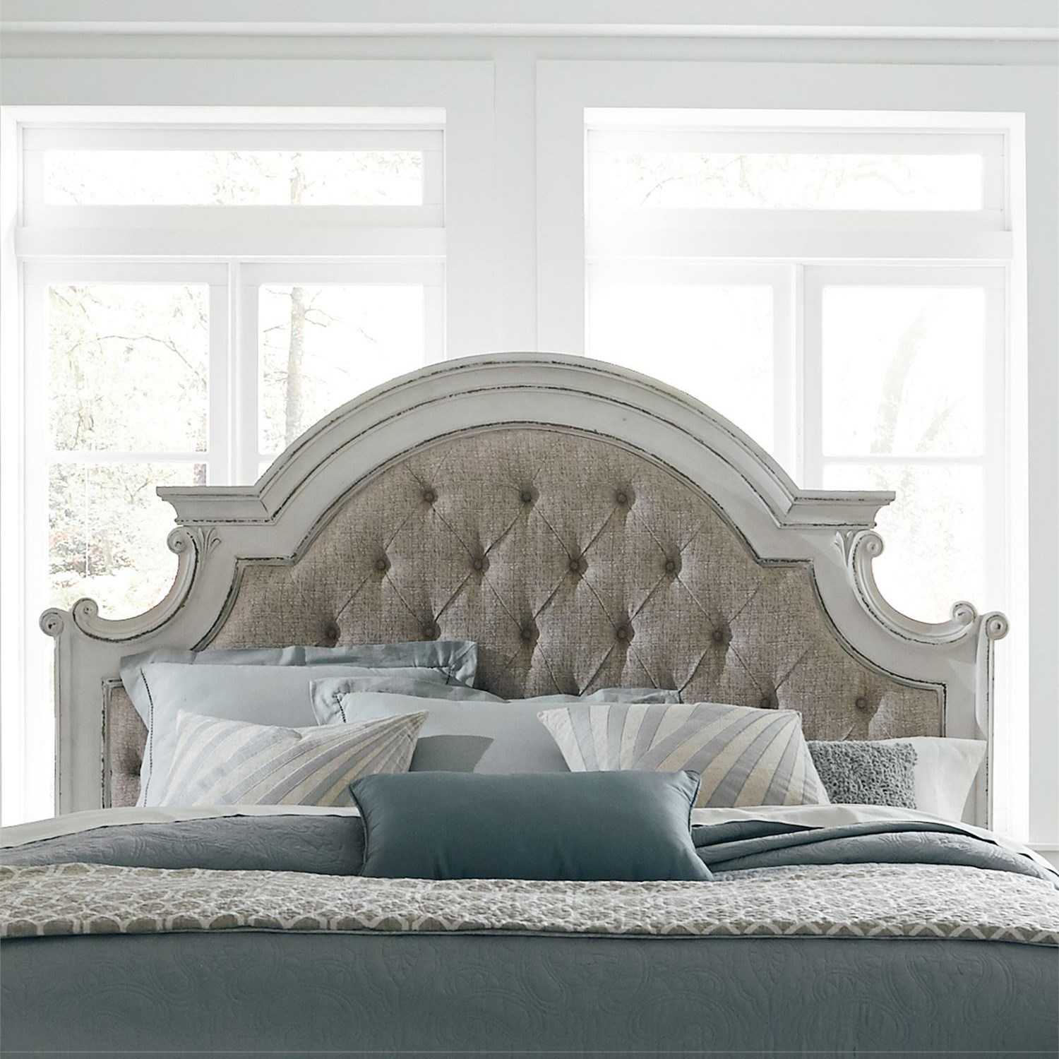 Magnolia Manor Queen Upholstered Panel Headboard by Liberty Furniture at Darvin Furniture