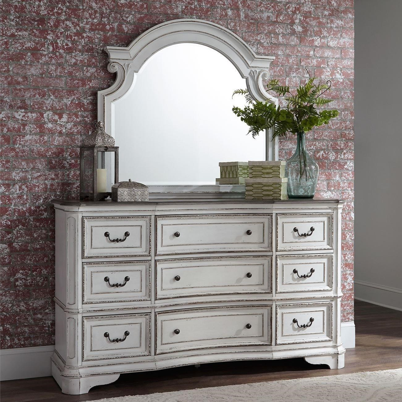 Morgan 9 Drawer Dresser and Mirror by Libby at Walker's Furniture