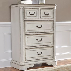 Traditional 4 Drawer Chest of Drawers with Fully Stained Interior Drawers