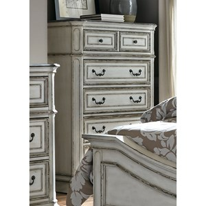 5 Drawer Chest with Felt-Lined Top Drawers