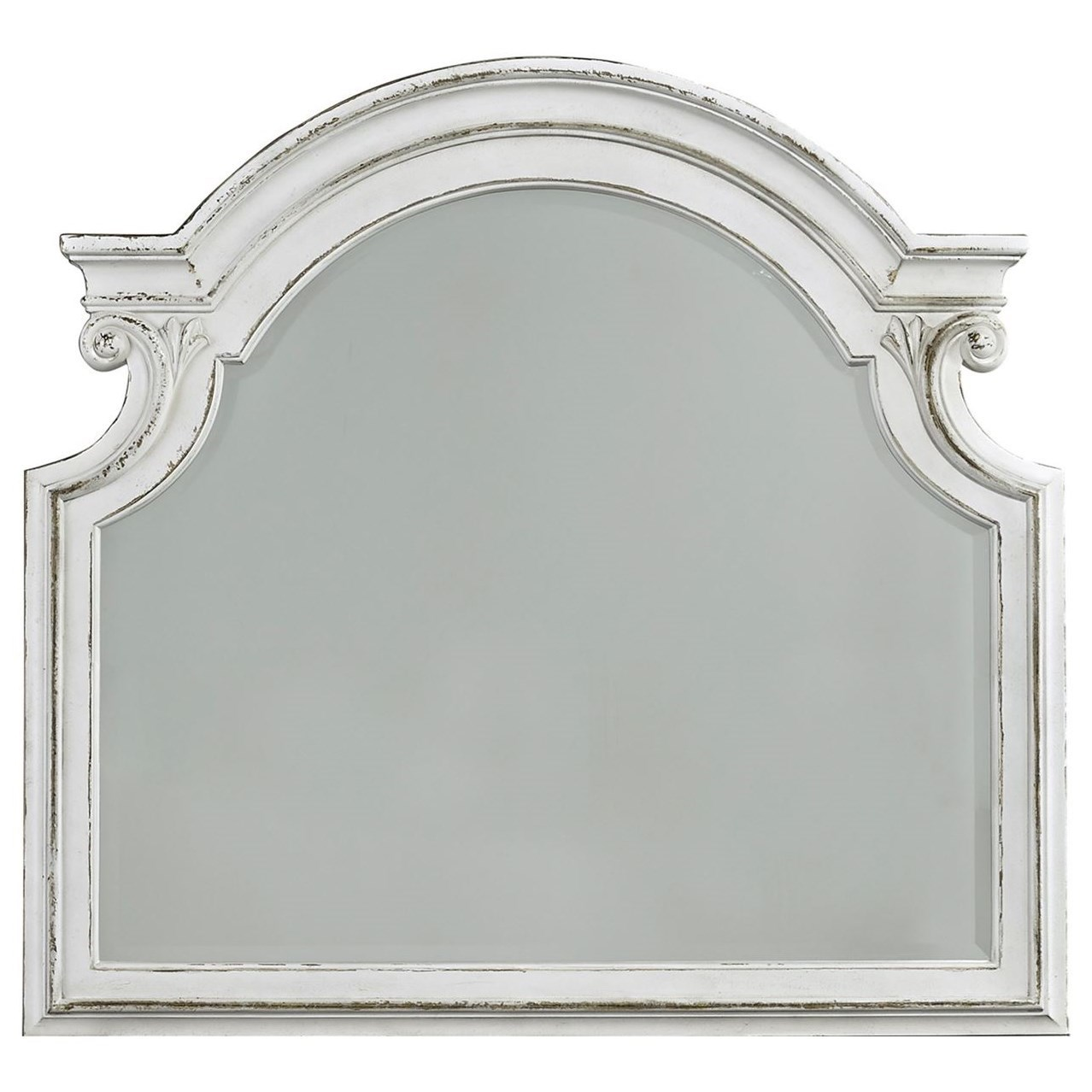 Magnolia Manor Mirror with Wood Frame by Liberty Furniture at Northeast Factory Direct