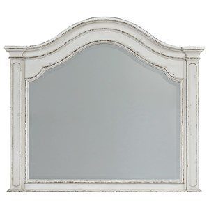 Arched Dresser Mirror with Wood Frame