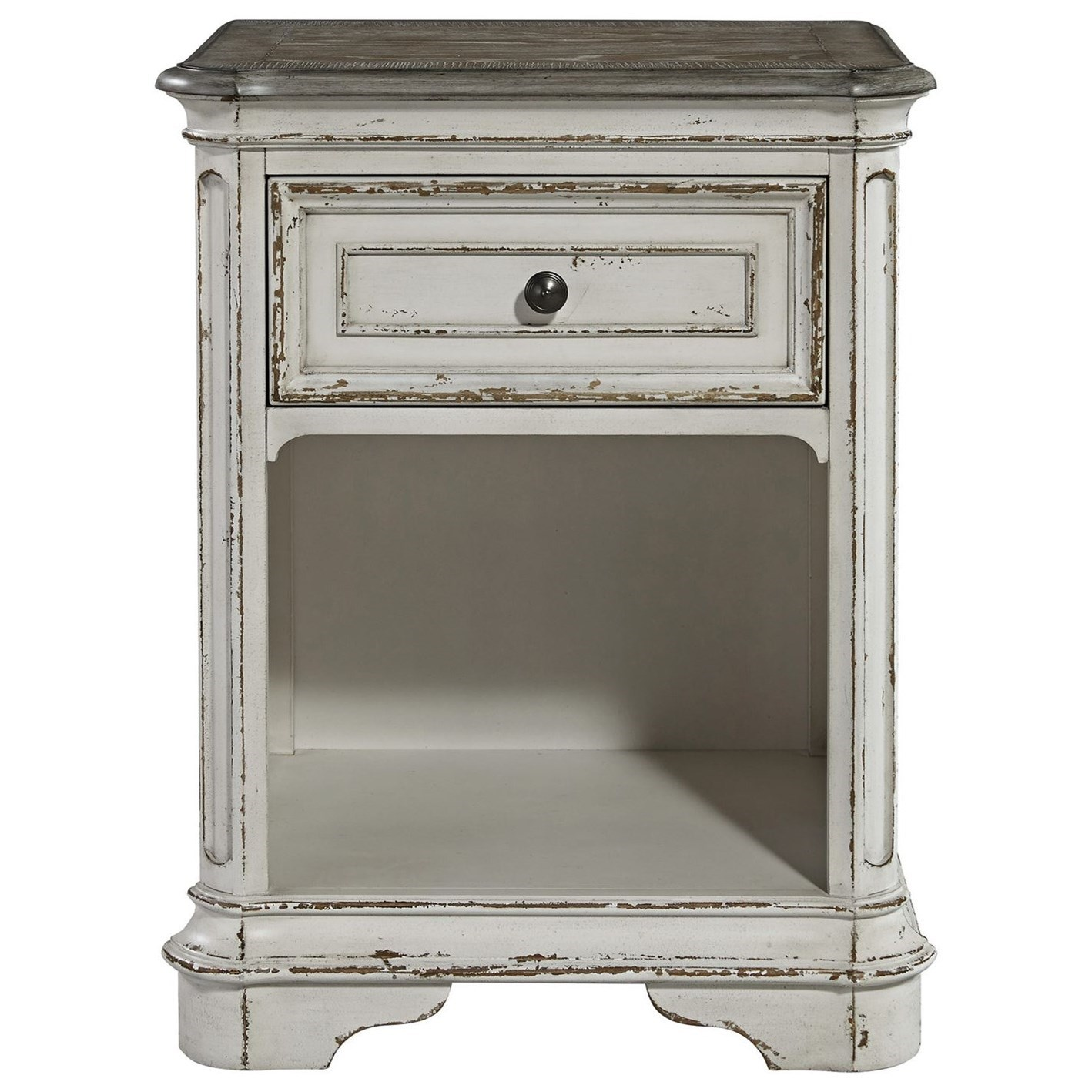 Magnolia Manor 1 Drawer Nightstand by Liberty Furniture at Johnny Janosik