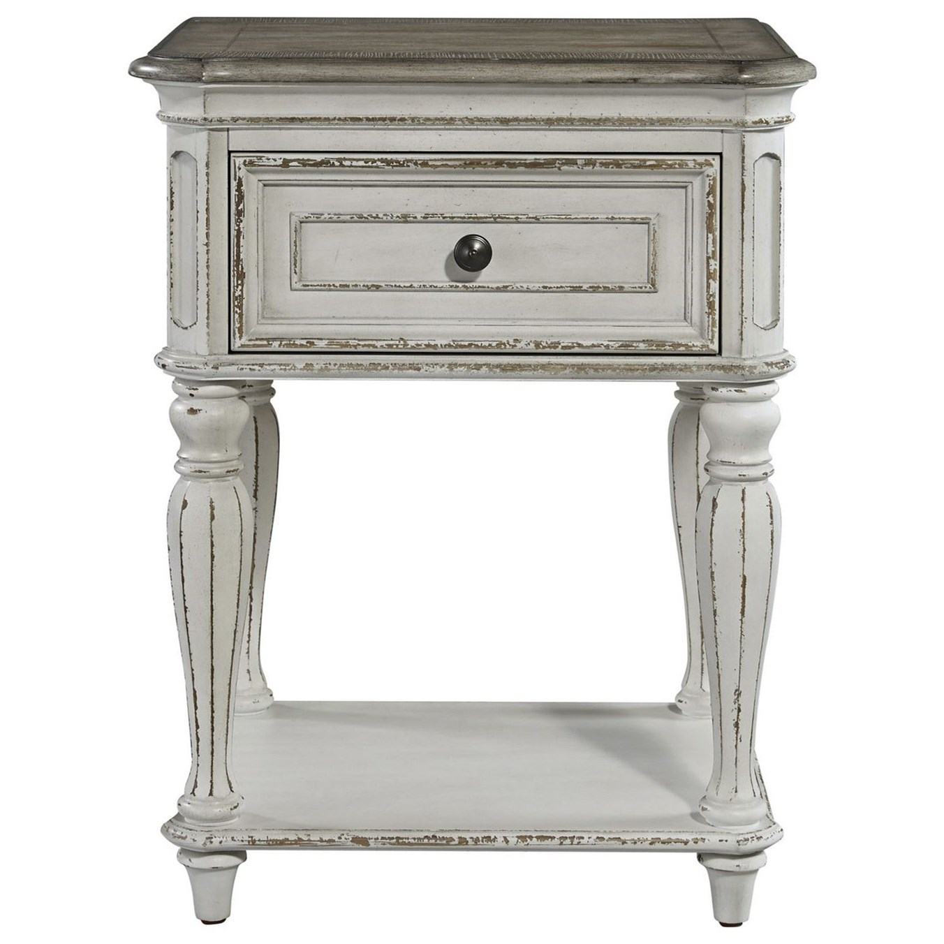 Magnolia Manor One Drawer Nightstand by Liberty Furniture at Bullard Furniture