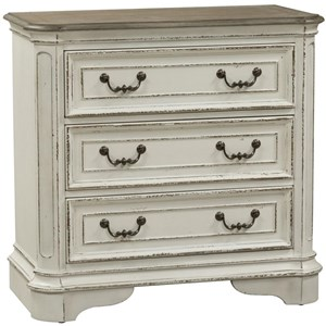 Traditional 3 Drawer Bedside Chest with USB Ports