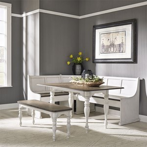 Cottage 5-Piece Rectangular Table Set with Bench and Nook
