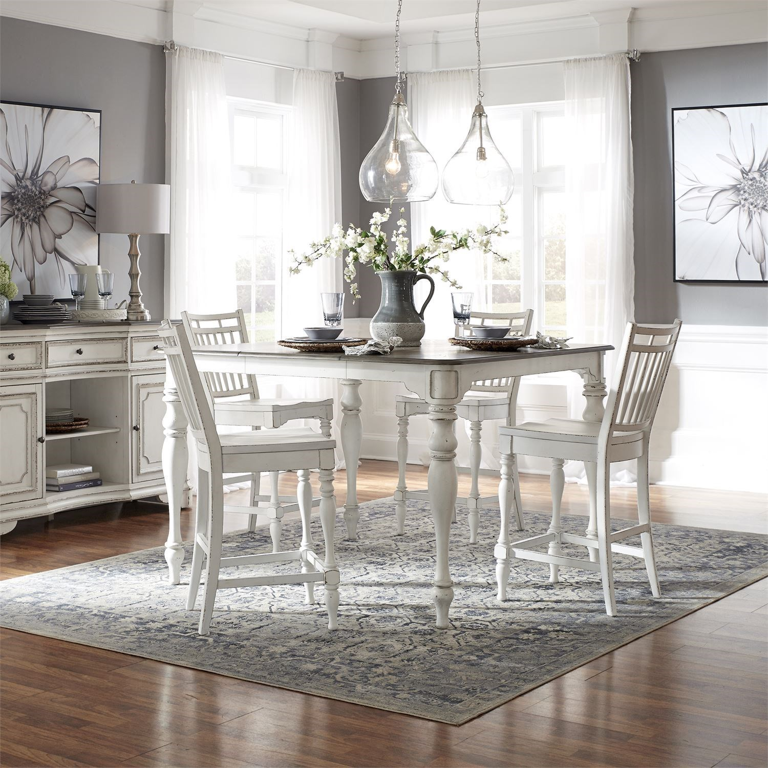 Morgan 5-Piece Counter Height Table and Chair Set by Libby at Walker's Furniture
