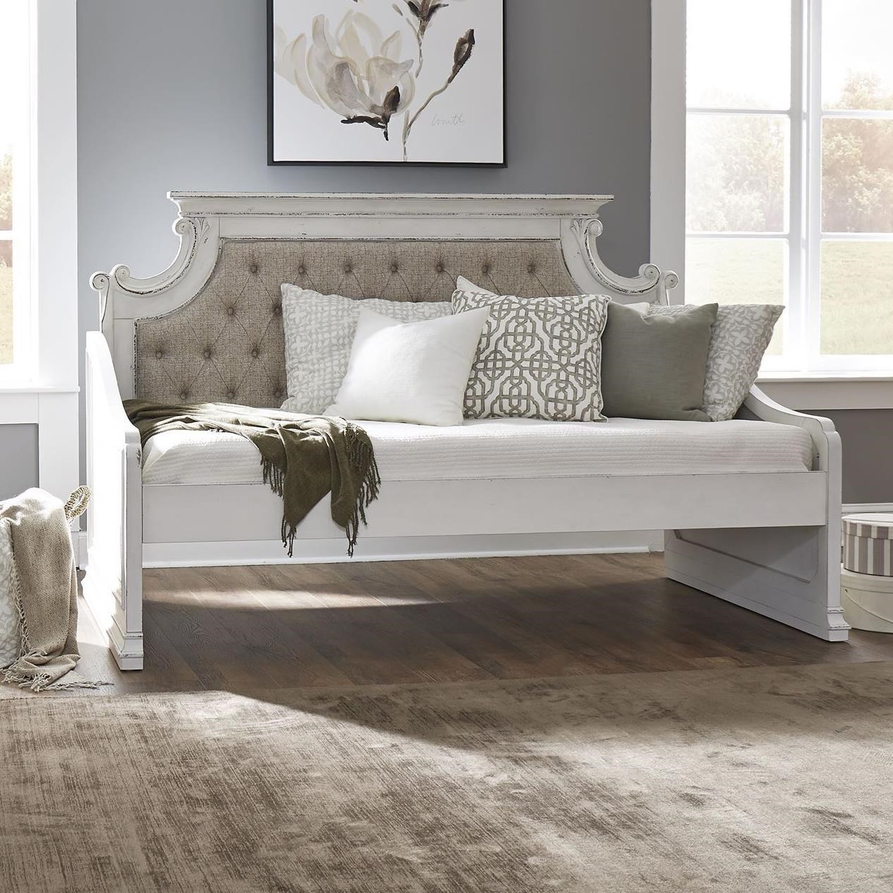 Magnolia Manor Twin Upholstered Daybed by Liberty Furniture at Bullard Furniture