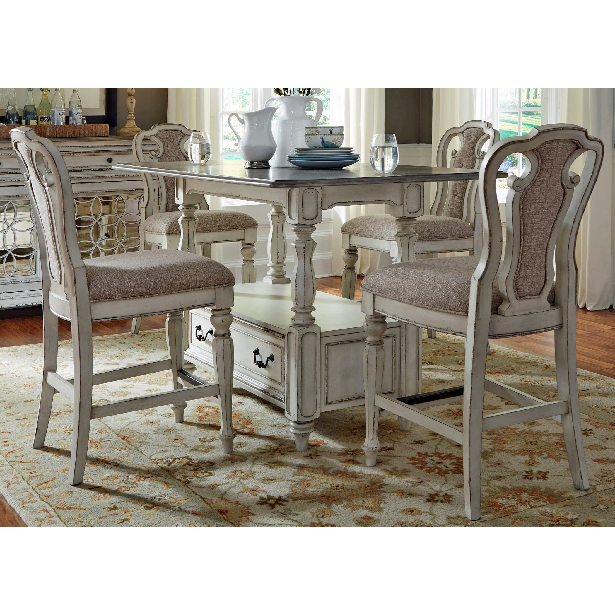 Magnolia Manor Dining Gathering Table and Chair Set by Liberty Furniture at Northeast Factory Direct