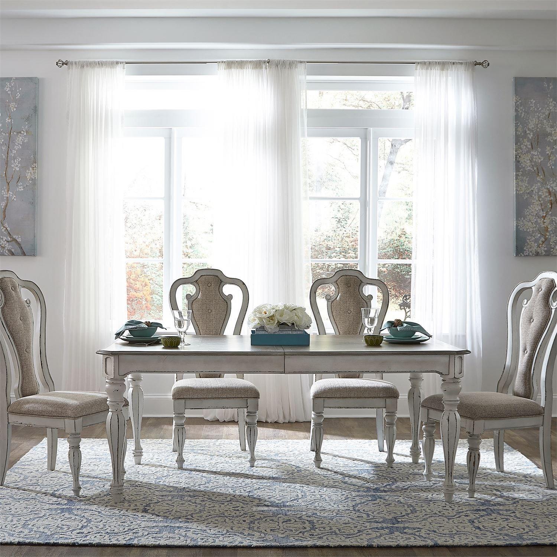 Magnolia Manor Dining 5 Piece Leg Table Set by Liberty Furniture at Bullard Furniture