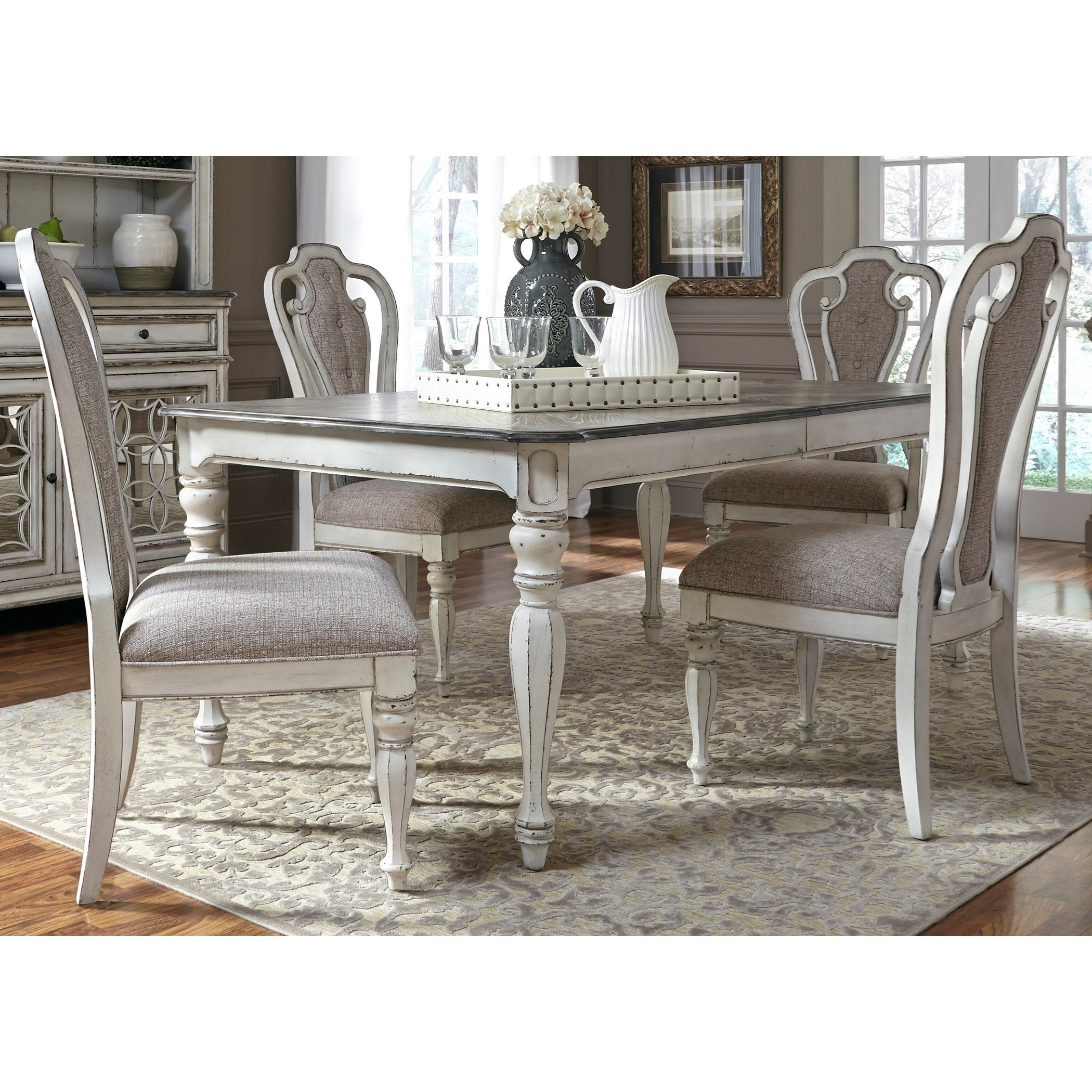 Magnolia Manor Dining 5 Piece Rectangular Table Set by Liberty Furniture at Turk Furniture