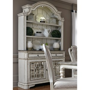 Dining Buffet and Hutch with Touch Lighting