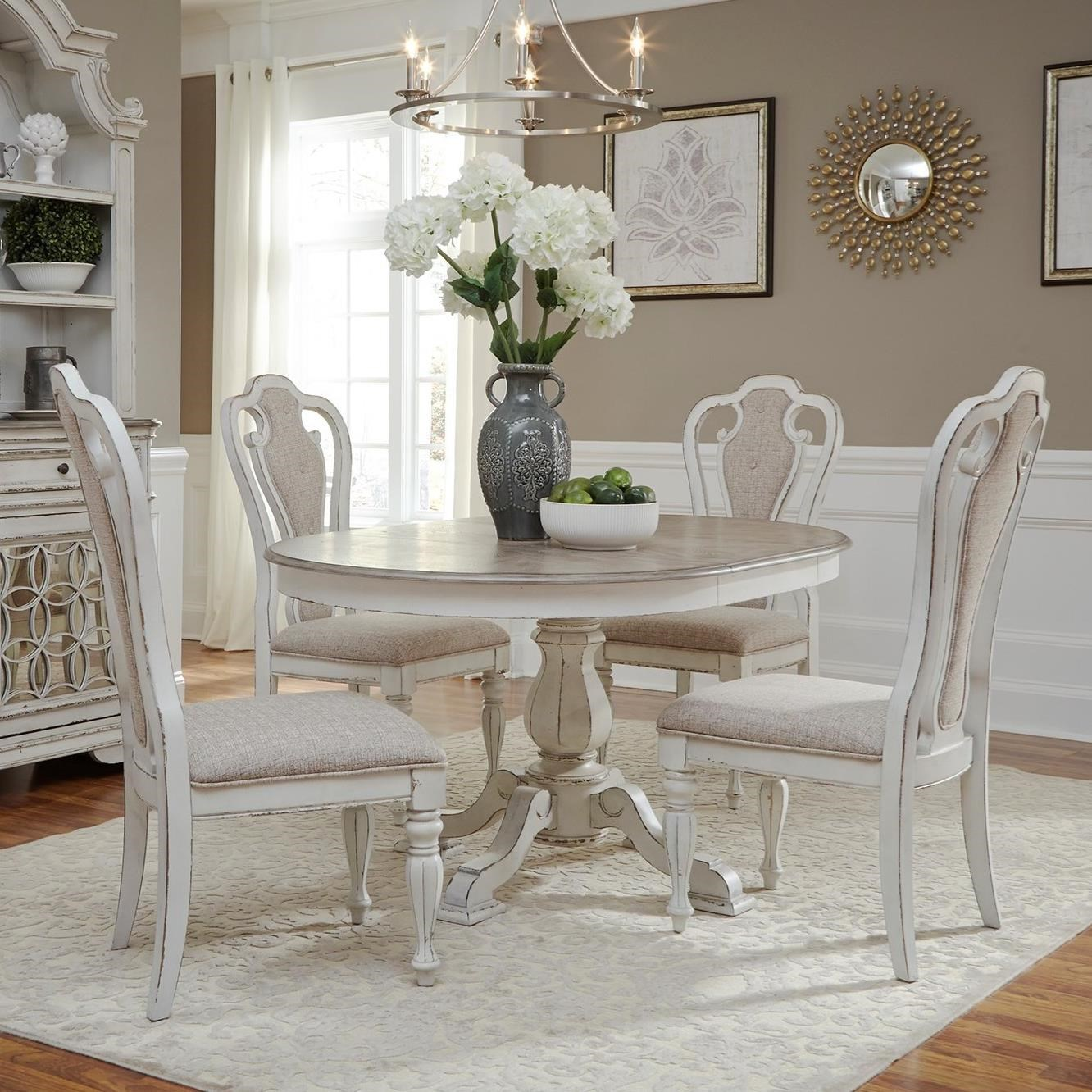 Magnolia Manor Dining 5 Piece Chair & Table Set by Liberty Furniture at Northeast Factory Direct