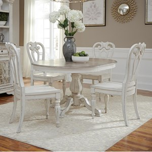 5 Piece Table Set with Splat Back Chairs