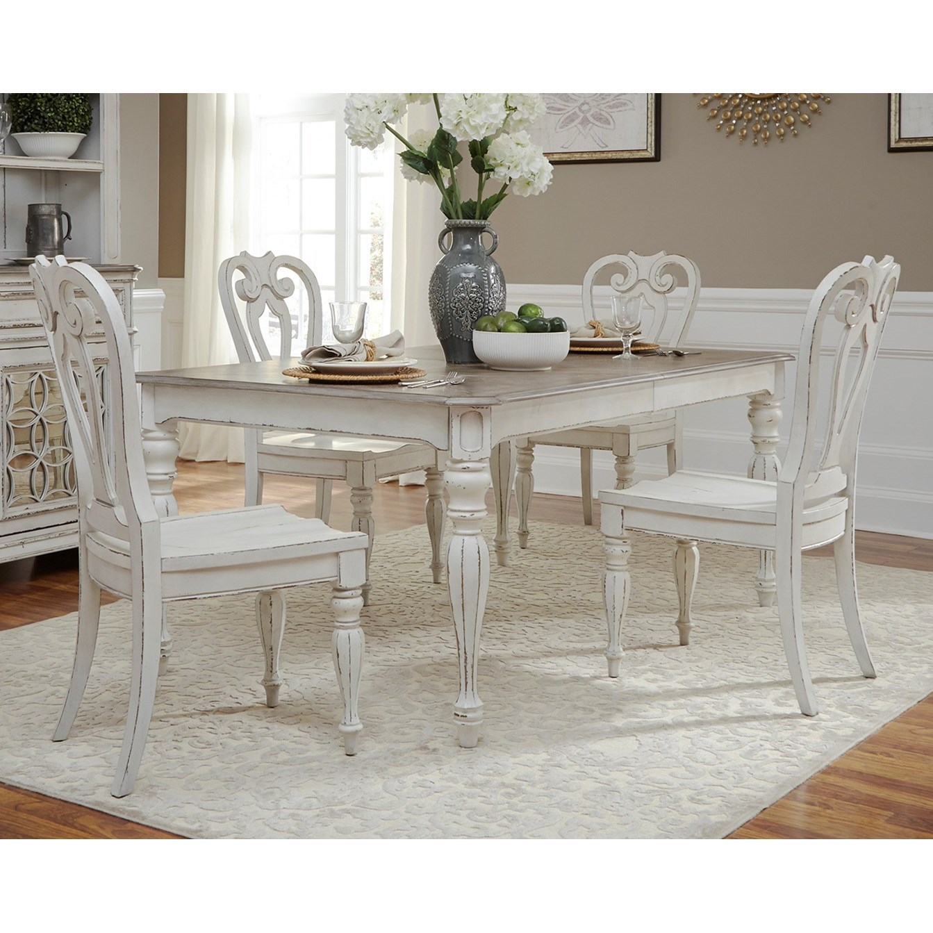 Magnolia Manor Dining Opt 5 Piece Rectangular Table Set  by Liberty Furniture at Northeast Factory Direct