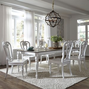 Opt 7 Piece Rectangular Table Set with Leaf