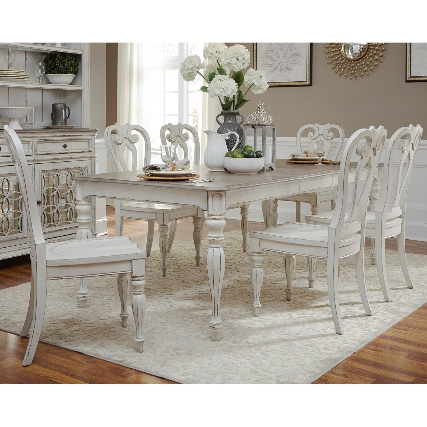 Magnolia Manor Dining Opt 7 Piece Rectangular Table Set  by Liberty Furniture at Northeast Factory Direct