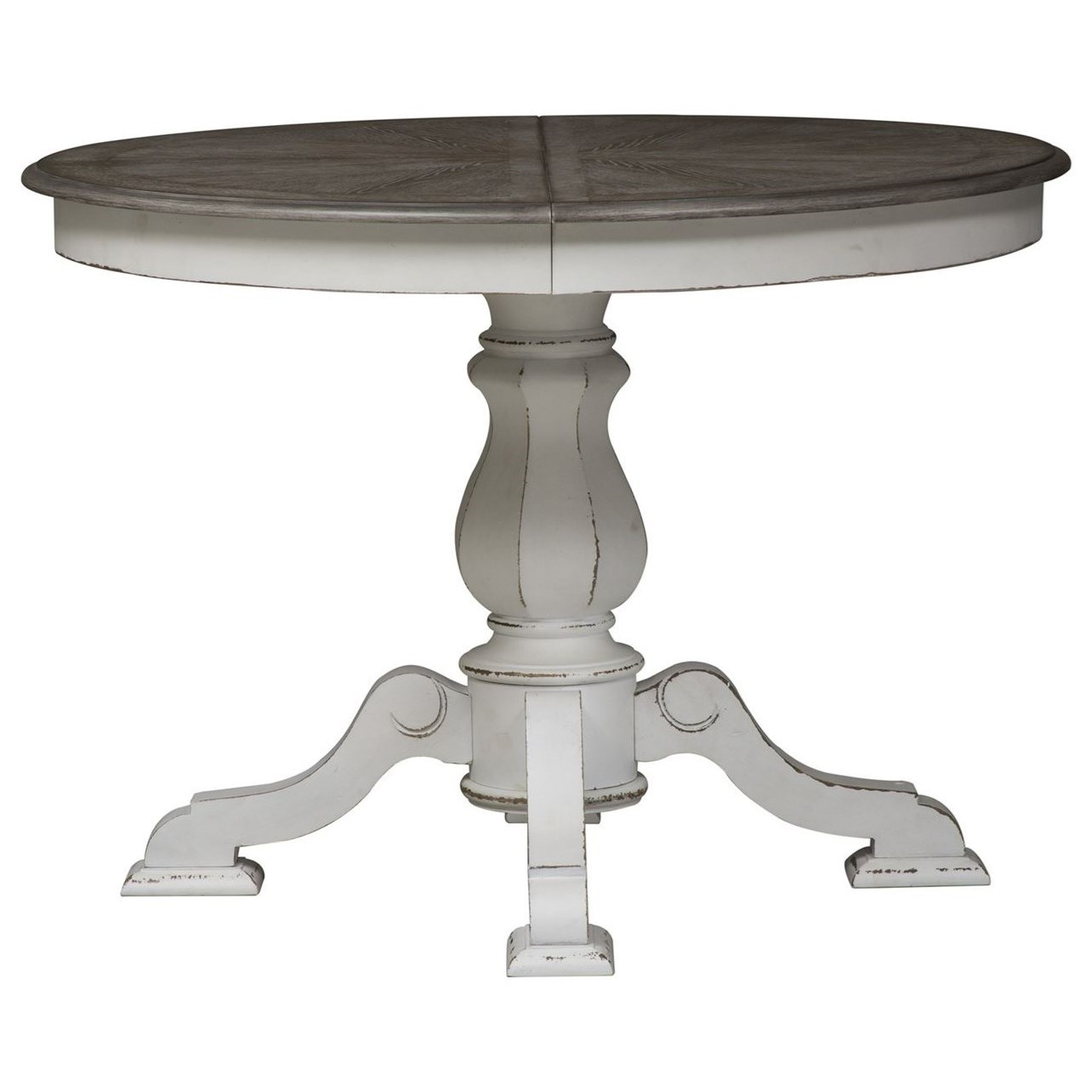 Morgan Pedestal Table by Libby at Walker's Furniture
