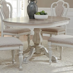 Pedestal Table with Leaf