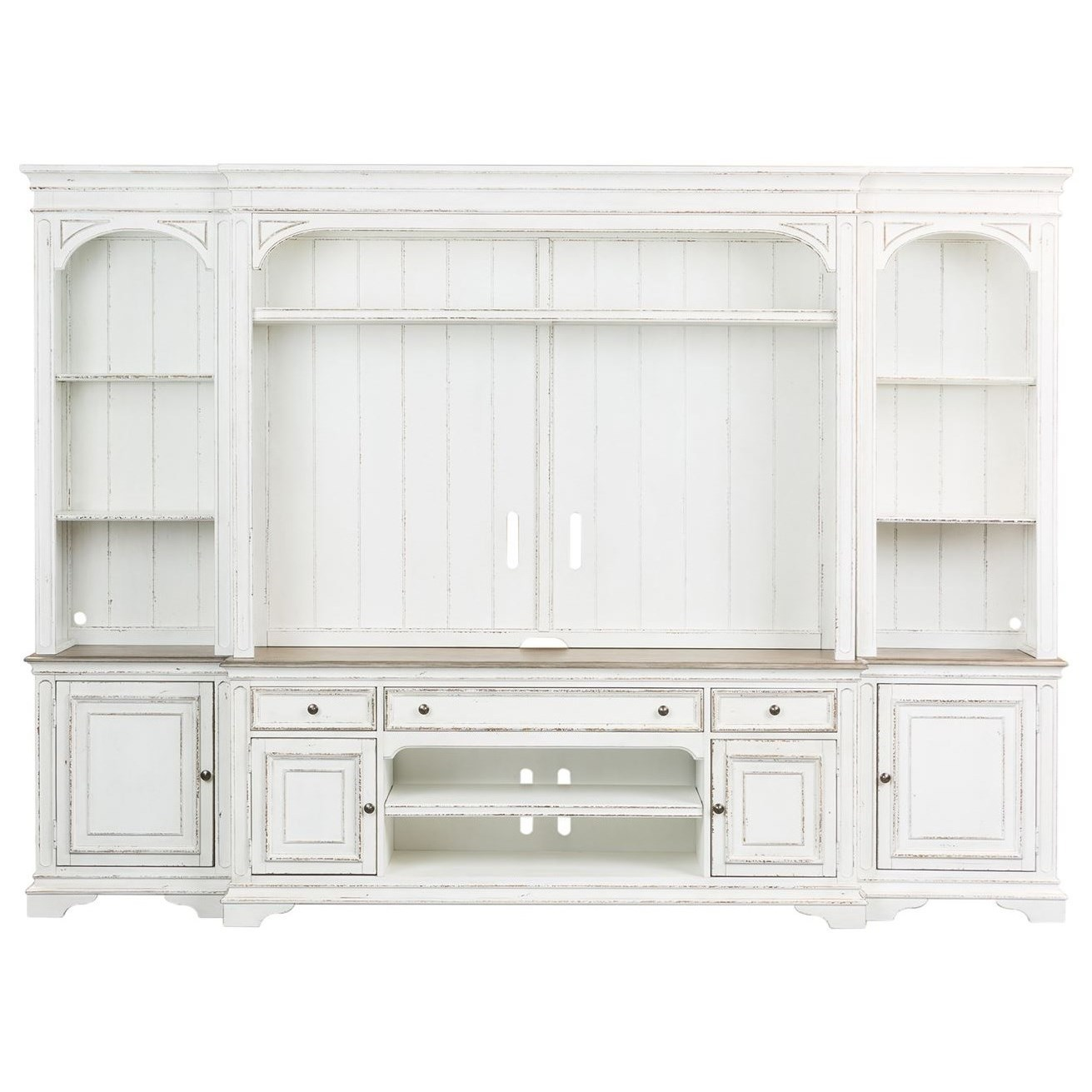 Morgan 4 Pc Entertainment Wall Unit by Libby at Walker's Furniture