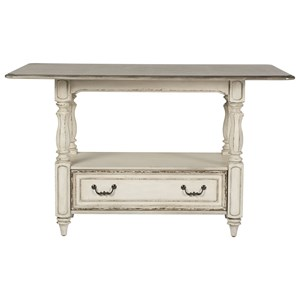 Rectangular Gathering Table with Storage Drawer