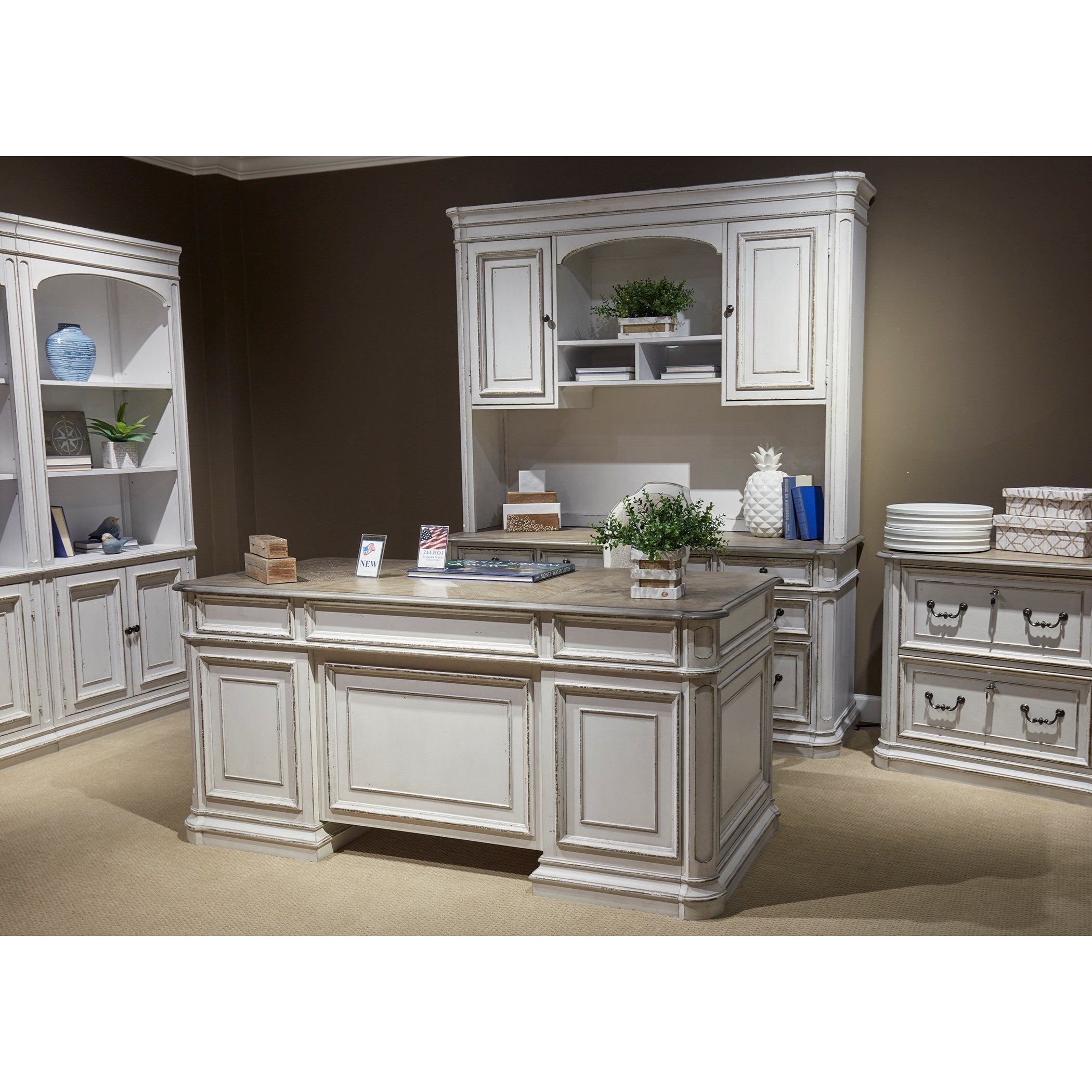 Magnolia Manor Office Office Group by Liberty Furniture at Bullard Furniture