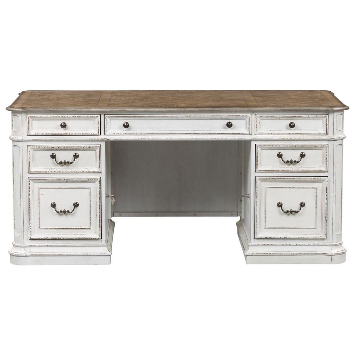 Magnolia Manor Office Desk by Liberty Furniture at Bullard Furniture
