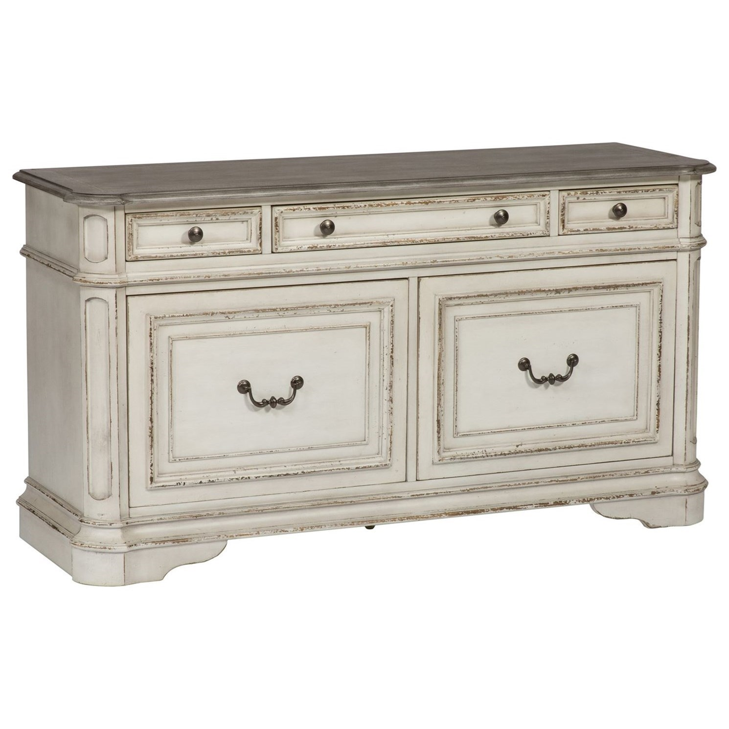 Magnolia Manor Office 5 Drawer Credenza by Liberty Furniture at Northeast Factory Direct