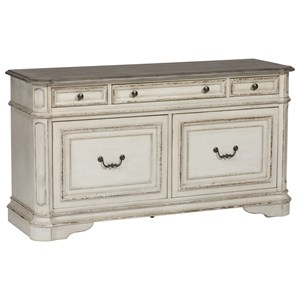 5 Drawer Credenza with Wire Management