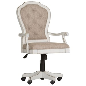 Traditional Executive Desk Chair with Button Tufted Seat Back