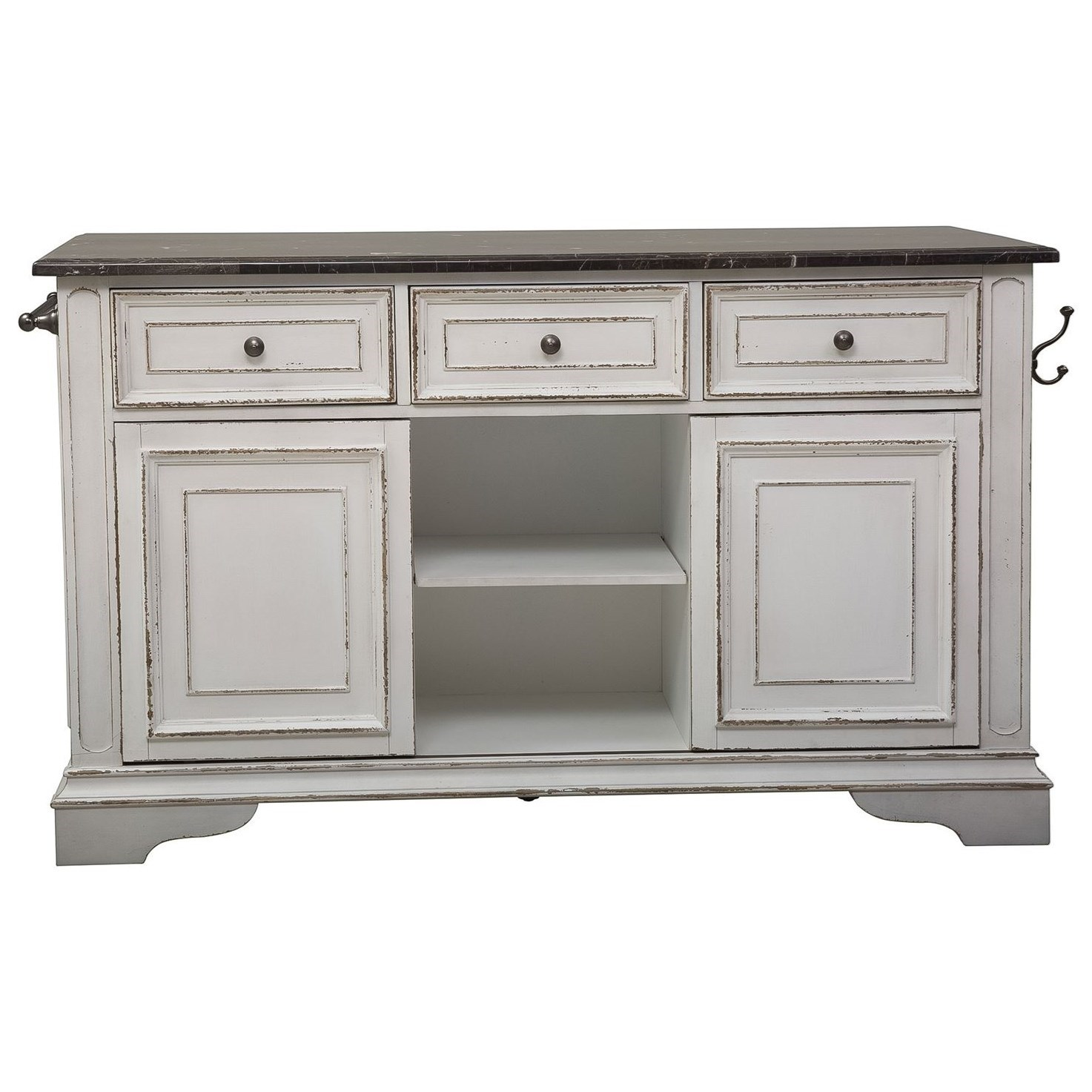 Morgan Kitchen Island with Granite by Libby at Walker's Furniture