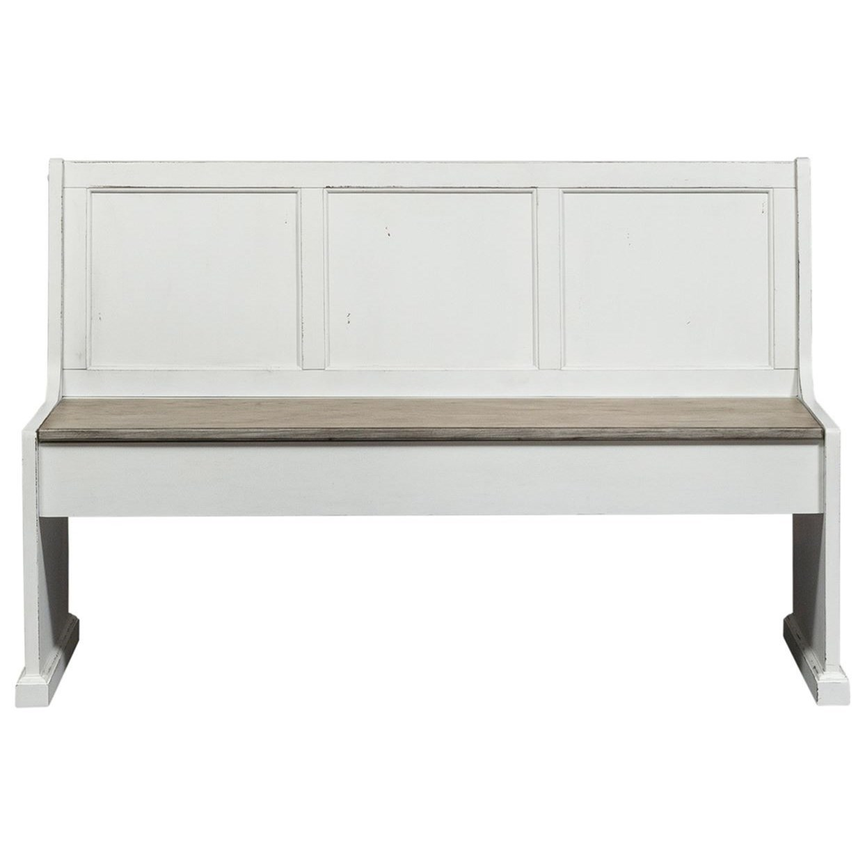 """Morgan 56"""" Nook Bench by Libby at Walker's Furniture"""