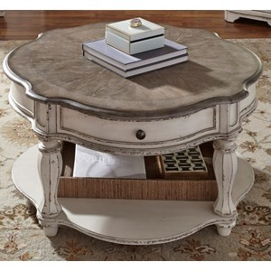 Liberty Furniture Magnolia Manor Round Cocktail Table