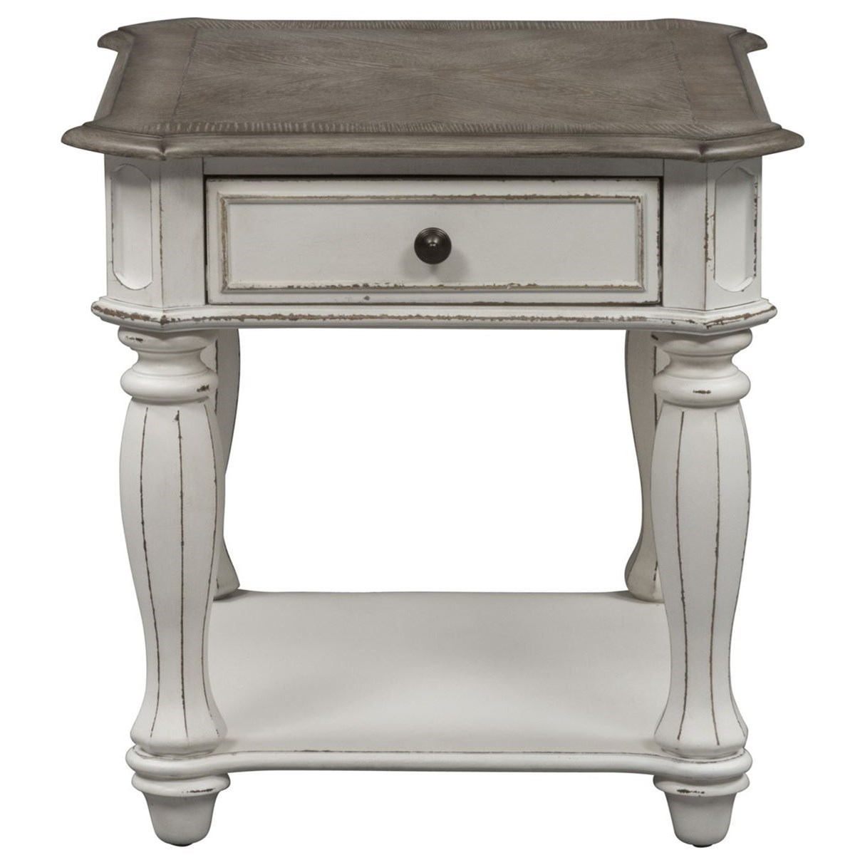 Magnolia Manor End Table with Dovetail Drawer by Liberty Furniture at Northeast Factory Direct