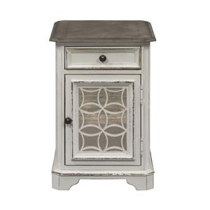 Chair Side Table with Door