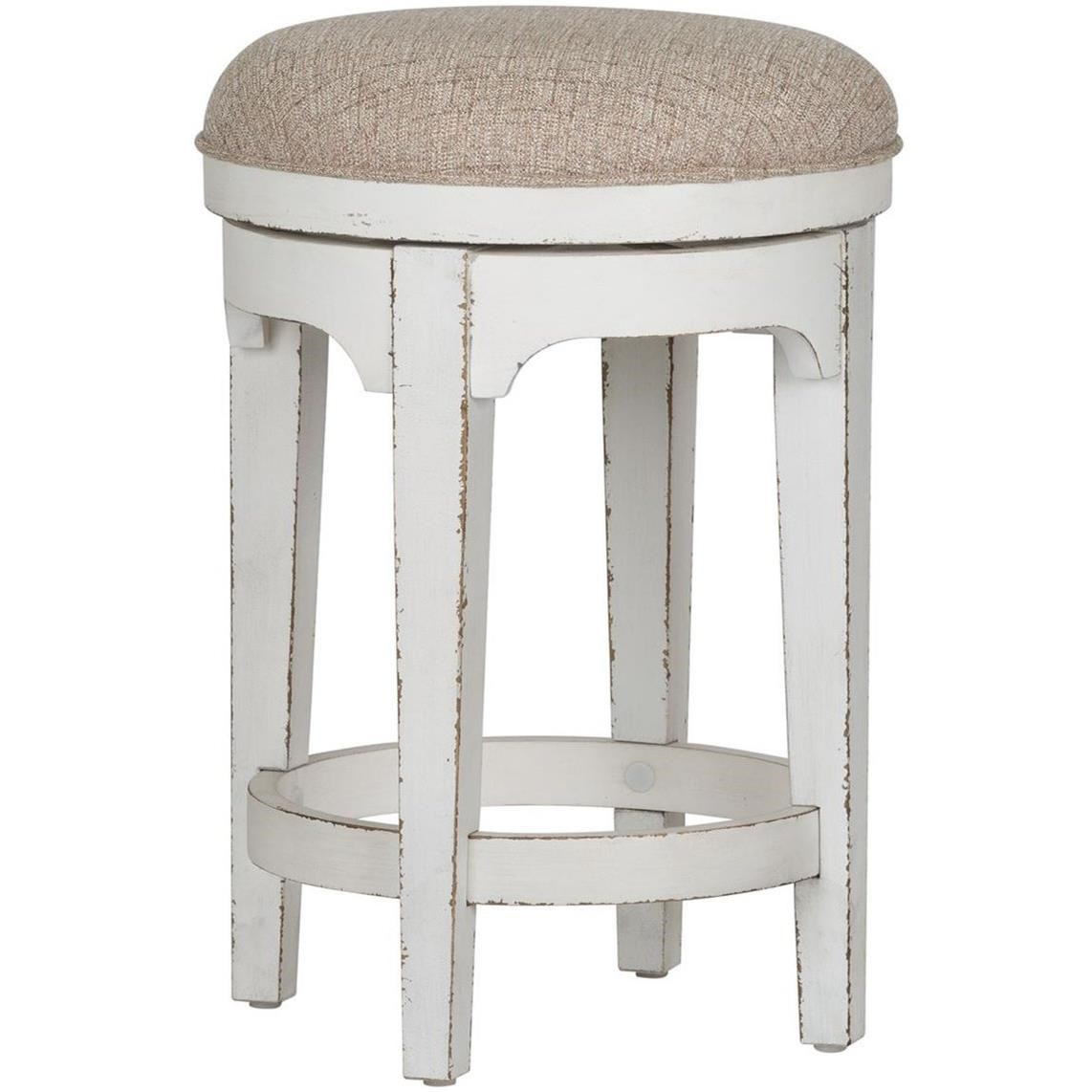 Magnolia Manor Console Swivel Stool by Sarah Randolph Designs at Virginia Furniture Market