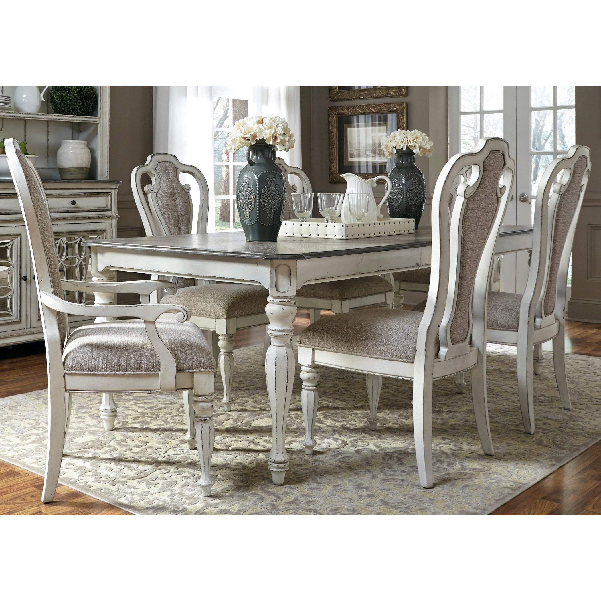 Magnolia Manor Dining 7 Piece Rectangular Table Set by Liberty Furniture at Bullard Furniture