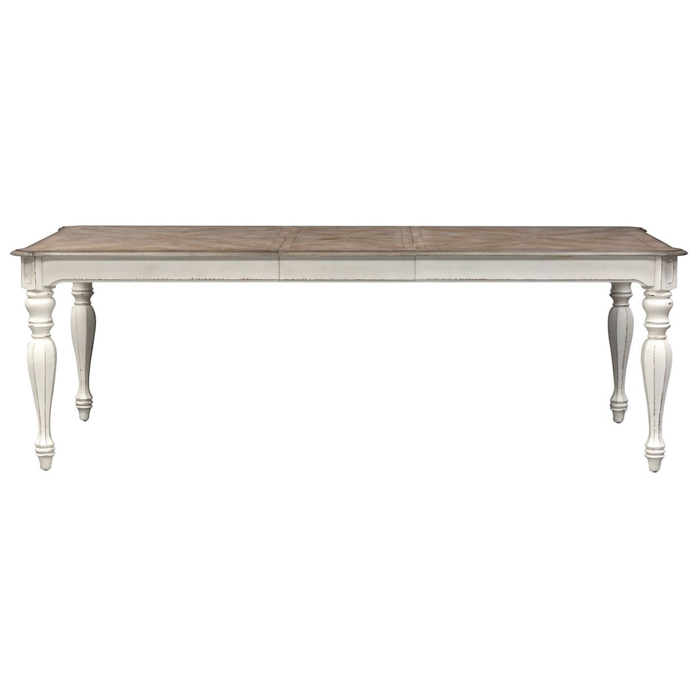 Morgan Rectangular Leg Table with Leaf by Libby at Walker's Furniture