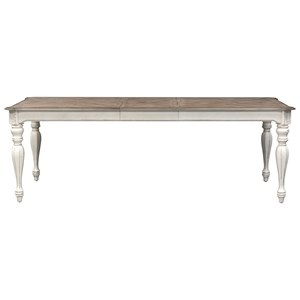 Rectangular Leg Table with Leaf