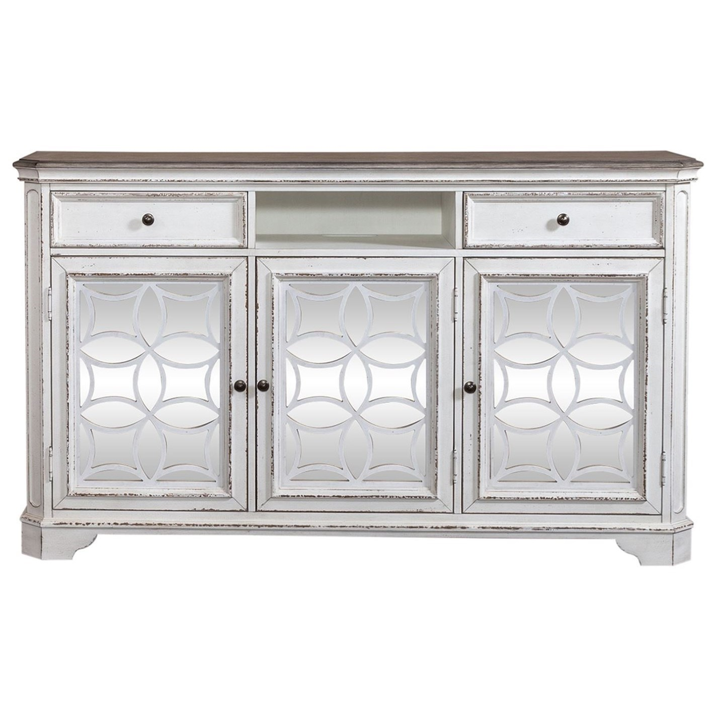 """Magnolia Manor 68"""" TV Console by Liberty Furniture at Novello Home Furnishings"""