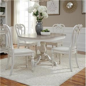 Liberty Furniture Magnolia Manor Dining Oval Dining Table & 6 Chair Set