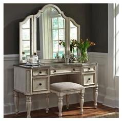 Liberty Furniture Magnolia Manor Vanity Desk & Mirror