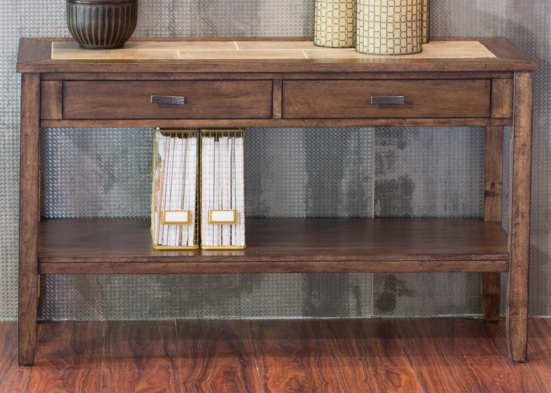 Mesa Valley Occasional Sofa Table by Libby at Walker's Furniture