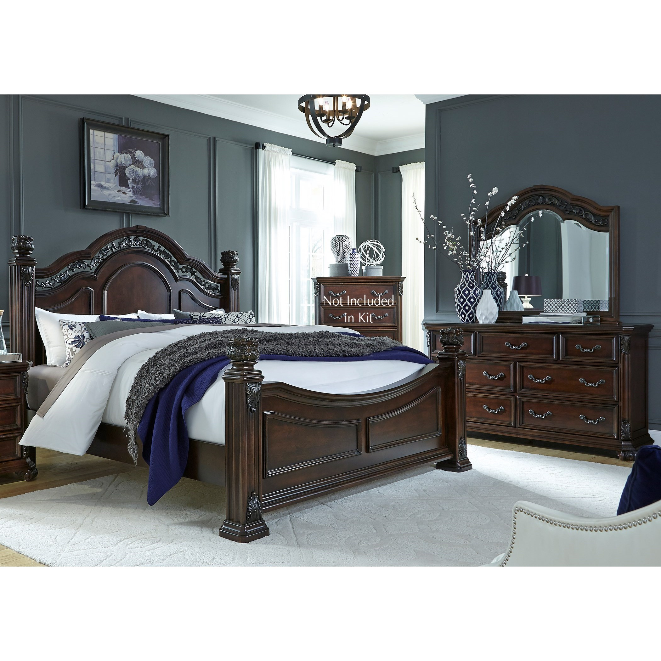 Messina Estates King Bedroom Group by Liberty Furniture at Northeast Factory Direct