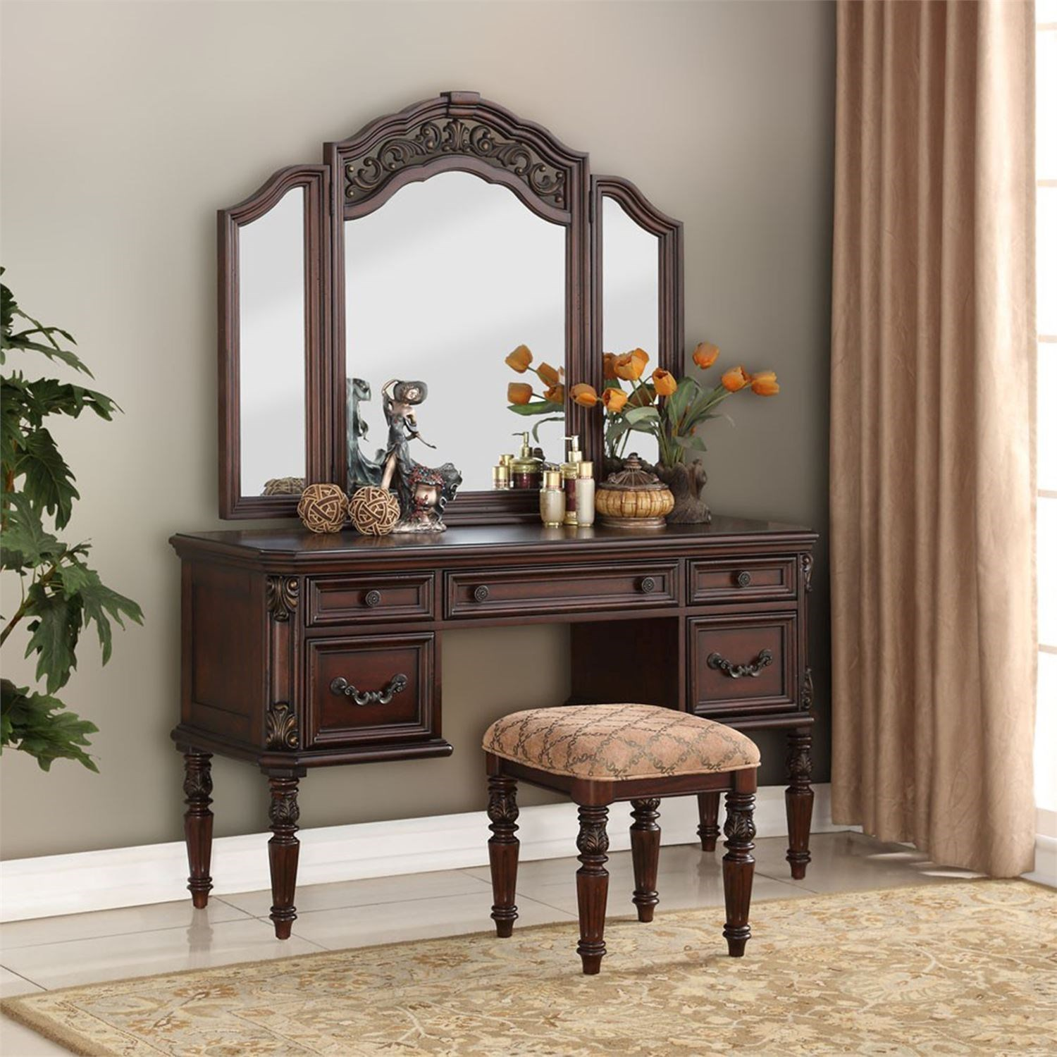 Lenor Vanity by Libby at Walker's Furniture