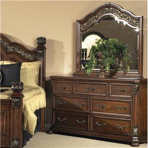 Liberty Furniture Messina Estates 7 Drawer Dresser with Mirror