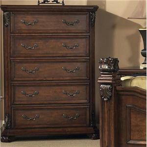 Classic 5 Drawer Bedroom Chest