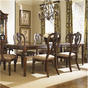 Traditional Rectangular Leg Dining Table