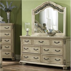 Liberty Furniture Messina Estates II 7 Drawer Dresser with Mirror
