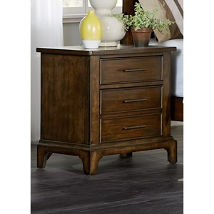 Night Stand with Three Dovetail Drawers